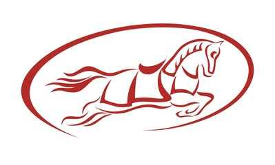horse oval abstrac