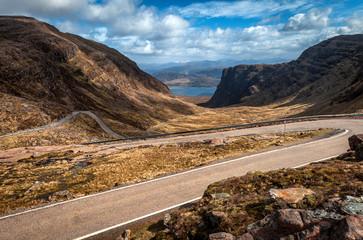 Descending Bealach na Ba from Applecross, Scottish Highlands
