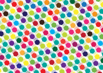 colorful bright hexagons background