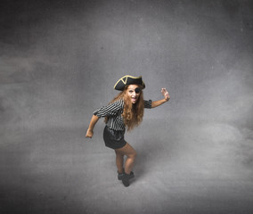 pirate dancing in a moonwalk style