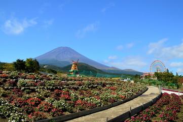 富士山と遊園地