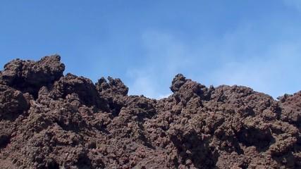 Slag dump at the slope of Mount Etna. Sicily