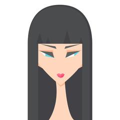 Vector illustration of beautiful women faces