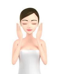 Beautiful woman skin care image