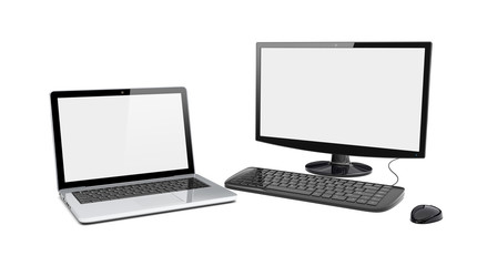 Desktop pc and laptop