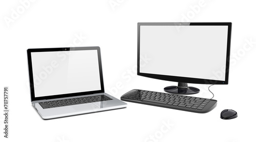 Desktop pc and laptop - 70757791