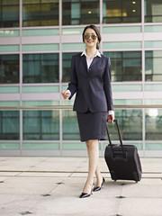 asian business traveler