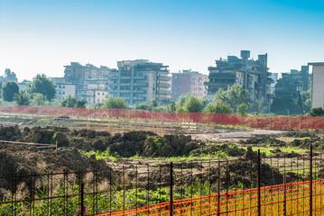 Cantiere costruzioni ditta edite, sbancamento terra