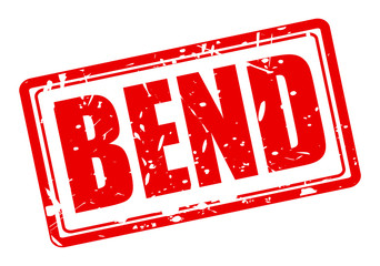 Bend red stamp text