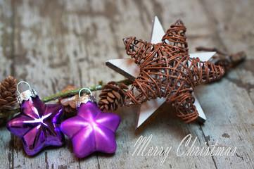 Weihnachtskarte mit Sternen