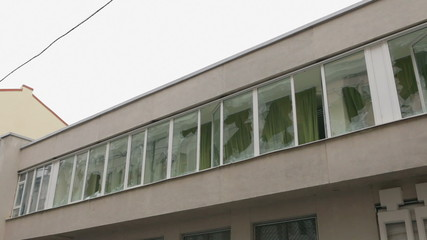 Broken windows at the Interior Ministry in Ternopil