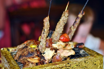 Miracles Lebanese kitchens- meat on the grill
