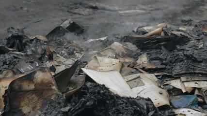 Burning documents the walls prosecution Ternopil region