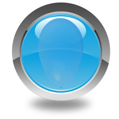 ballon bleu sur bouton bleu