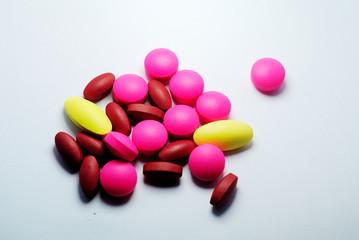 closeup of medical pills