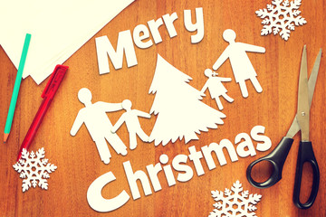 Happy family and Merry Christmas
