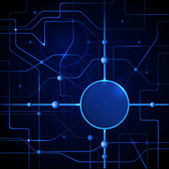 Vector illustration blue abstract technology background