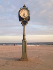 Sunset and a clock, NYC