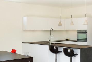 interior modern house, kitchen