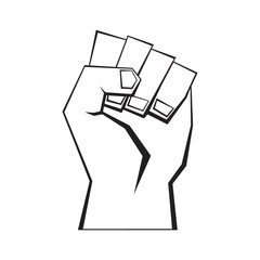 Man fist, vector format