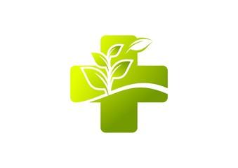 green cross medicine logo, tree medic icon