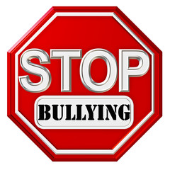 Octagonal Stop sign with Bullying caption