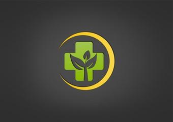 circle natural cross medicine logo