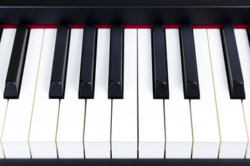 Close-up of electric piano keys