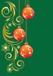 Christmas background with Christmas balls