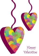 vector valentine hearts