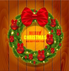 Realistic vector Christmas wreath