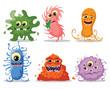 Постер, плакат: Мультфильм мило монстров и бактерии фоновые