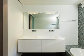 Interior of modern house, bathroom
