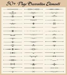 A set of 50+ Page Decoration Design Elements