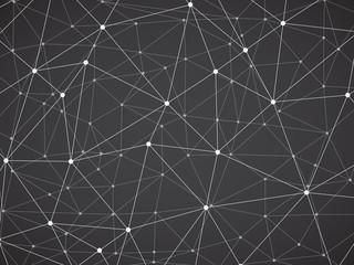 Polygonal background, geometric pattern, grey color