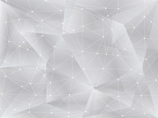 Polygonal background, geometric pattern, white color