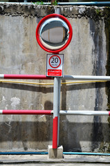 Traffic Mirror and Traffic sign