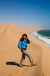 Turista nel deserto