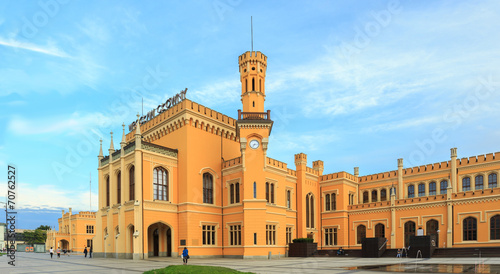 Restored Main railway station in Wroclaw, Poland