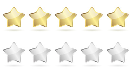 5 stars - golden and silver