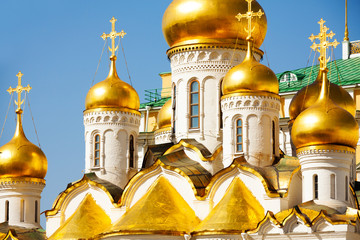 Golden domes of Annunciation Cathedral, Moscow