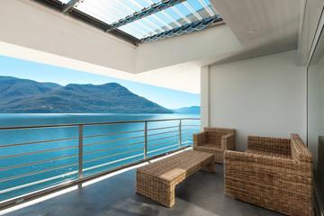 beautiful veranda of a penthouse