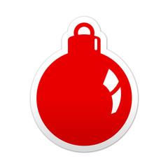Pegatina simbolo bola de navidad