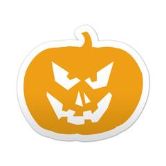Pegatina simbolo calabaza de Halloween