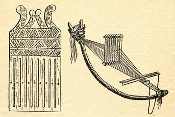Ancient weaving device - bow loom