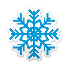 Pegatina simbolo copo de nieve