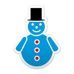 Pegatina simbolo hombre de nieve