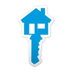 Pegatina simbolo inmobiliaria