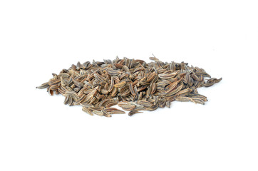 Pile of scattered caraway seeds