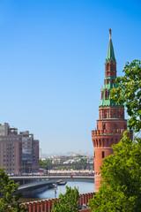 View of Vodovzvodnaya Tower from Kremlin to river
